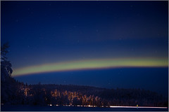 au bord d'une route de Laponie (kalzennyg) Tags: aurore nothernlights finland lapland kalzennyg