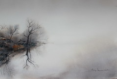 Brume (Demars Philippe) Tags: brume paysage eau reflets aquarelle watercolor davewilliams demarsphilippe