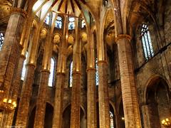 2738  Detalle de Santa María del Mar, Barcelona (Ricard Gabarrús) Tags: iglesia catedral edificio arquitectura columnas ricardgabarrus ricgaba olympus santamariadelmar
