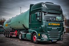 "DAF XF 510 - ""H.FREUND"" (Peters HDR hobby pictures) Tags: petershdrstudio hdr dafxf truck trailer tankroadtrain berlin lkw sattelauflieger tankzug zugmaschine zugmaschinemitauflieger silotankzug grün green sky himmel"