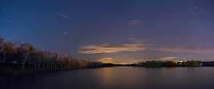 Colorful Night (makardavid8) Tags: night sky astro astrophoto astrophotography colors color clouds landscape lake skyscape stars darkness dark yellow light photoshop lightroom d3400 nikon 1855