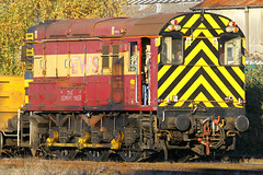 08735, Eastleigh, November 10th 2010 (Southsea_Matt) Tags: 08735 class08 shunter ews diesellocomotive eastleigh hampshire england unitedkingdom november 2010 autumn canon 30d train railway railroad transport vehicle