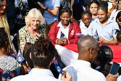 CamandCrowdEJED (Cayman Islands Government Information Services) Tags: cayman royal visit charles prince wales camilla duchess cornwall owen roberts international airport united kingdom great britain