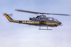 Bell UH-1 Cobra (gilamonster8) Tags: uh1 150600mm1563dgc dmafb sigma cobra fly flickr tucson rotor bellah1cobra blue usarmy warbird flight jet 2019thunderandlightningoverarizona helicopter airshow sky arizona eos aircraft canon 5dmarkiv unitedstatesofamerica us