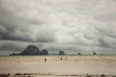 Ao Nang beach (ValterB) Tags: valterb valter view beach blue beautiful water waves clouds sky sea seascape seaside seasia scenic shore sand krabi thailand people swimming storm nikon nikkor nikond90 aonang