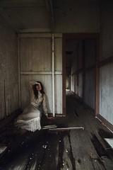 Dagney Closet (SkylerBrown) Tags: dagneyhollmann abandoned abandonedhouse creepy dark dress farmhouse fashion female girl gothic haunting model shadows spooky whitedress woman