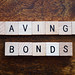Savings bonds stock photo