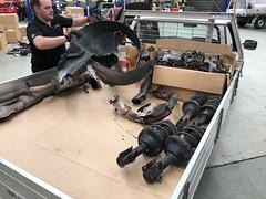 Parts removed from the car (andrew edgar .......) Tags: subaru impreza wrx silver turbo awd car sydney blacktown