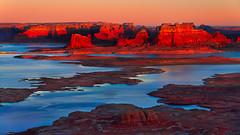 Powell (Chad Dutson) Tags: powell lake chad dutson utah arizona desert southwest nature wilderness wild water light glow reflection sunset evening dusk sand sandstone landscape desertscape waterscape reservoir