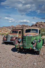 *** GENERAL MOTORS TRUCK - 1948 & INTERNATIONAL TRUCK - 1937 *** (Andre Schwabe) Tags: ghosttown vintage oldtimer cars nevada usa outdoor hiking nikond800e nature nelson