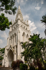 St Andrews_ (lindsayholley) Tags: church saint singapore trees green leaves sky blue white cloud door nikon d750 2470mm