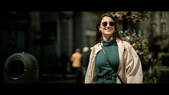 Always wear a smile because you never know who is watching. ~Gracie Gold~ (Lorrainemorris) Tags: happy joyful streetportrait sonyilce ireland dublin candidphotography moviestill lightroom tones smile women zeissbatis85 zeiss sony sony7rm2 cinematic cinema streetphotography