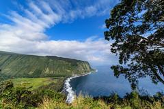 Waipio Valley, Hawaii (1daveclarke) Tags: waipio valley hawaii ocean trees sky landscape