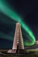 Garðskagi Lighthouse (Kjartan Guðmundur) Tags: iceland ísland landscape lighthouse auroraborealis northernlights norðurljós nightscape nightphotography nature nordlys night nasa stars sky canoneos5dmarkiv sigma14mmf18art kjartanguðmundur