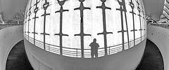 Shadow Selfie (gerard eder) Tags: world travel reise viajes europa europe españa spain spanien valencia calatrava cac ciudaddelasartesyciencias stadtderkünsteundwissenschaften lhemispheric blackandwhite blackwhite blancoynegro whiteblack whiteandblack shadow architecture arquitectura architektur modernarchitecture abstractarchitecture interior