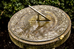 2019-02-01 Time is flying! (Mary Wardell) Tags: time sundial reflection antique vintage canon80d deepwoodestate salem oregon