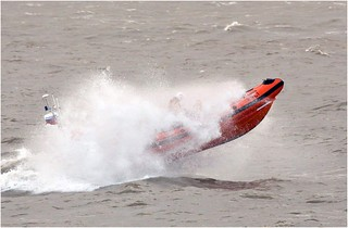 Porthcawl Atlantic 85 on a training exercise in rough weather