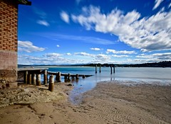 Jetty with clouds (jack eastlake) Tags: lake slipway jetty boathouse meimbula farsouthcoastnsw