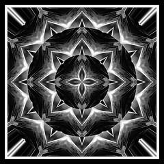 Winter Nights (LotusMoon Photography) Tags: abstract abstraction mandala kaleidoscope square bw blacknwhite blackandwhite digital digitalart artwork artistic meditative meditation spiritual spirit creative manipulated postprocessed filterforge filters annasheradon lotusmoonphotography