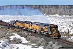 Last Call for 5371 (jamesbelmont) Tags: railway emd sd40t2 tunnelmotor dirttrain mounds utah greenriverdesert ljp45 bookcliffs survivor lastcall