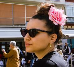 Belle de Malaga! (dominiquita52) Tags: streetphotography portrait woman femme andalouse malaga spain espagne fleur flower hairstyle coiffure