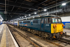 "87002 ""Royal Sovereign"" GBRf Caledonian Sleeper AC Loco Group London Euston 15.03.19 (Paul David Smith (Widnes Road)) Tags: 87002 royalsovereign gbrf caledonian sleeper ac loco group london euston 150319 class87"