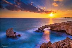 Love Bridge Sunset, Cyprus (AdelheidS Photography) Tags: adelheidsphotography adelheidsmitt adelheidspictures sunset arch lovebridge ayanapa cyprus merditerranean seascape