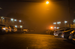 (Pentaprisckr) Tags: austin austintexasatx downtownaustin clarksville am night fog trafficlight