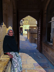 Her Spot in the Sun (shapeshift) Tags: in architecture asia candidphotography carvedstone davidpham davidphamsf documentary hallway history india iphone iphonephoto iphonephotography iphonex iphonexphoto iphonexphotography mandirpalace palace people portrait rajasthan sandstone shapeshift shapeshiftnet southasia streetphotography travel woman jaisalmer