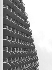 Rows of Balconies (Karen_Chappell) Tags: architecture bw blackandwhite abstract balcony balconies waikiki city urban building hotel usa travel oahu hawaii honolulu geometry geometric canonef24105mmf4lisusm