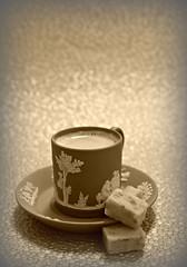 2019 Sydney: Sepia Coffee + Apricot Bites (dominotic) Tags: 2019 food coffee confectionery sepia wedgwoodgreenjasperwarecoffeecupsaucer foodphotography coffeeobsession apricotbites yᑌᗰᗰy sydney australia