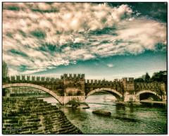 triple passage (alpiblu) Tags: ponte sul fiume adige verona caltelvecchio