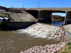 Repaired dam under the Logan creek bridge (ali eminov) Tags: wayne nebraska creeks logancreek bridges