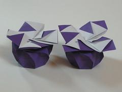 Octagonal tato-boxes (Mélisande*) Tags: mélisande origami octagon tatobox