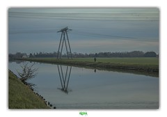 HOW IT FEELS TO BE LONELY (régisa) Tags: canal pasdecalais homme man marche walk highvoltage highvoltageline ligneàhautetension coulogne halage thebooradleys lonely seul solitaire