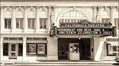 Restored California Theater Pittsburg CA (jerrywb2010) Tags: pittsburgca contracostacounty eastbay sfbayarea bw topazbw historical movietheater 1920s