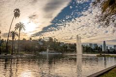 Echo Park Lake (SCSQ4) Tags: california cloudyskies donutstreetmeet echopark echoparklake losangeles morning sunrise