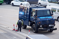 HK Police Mercedes-Benz Unimog AM7884 Riot Car (Thomas Cheung Bus Photography) Tags: sony a7iii a73 a7m3 ilcea73 hongkong armouredcars antiriotvehicles mercedesbenz