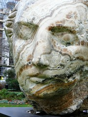 Emily Young, Head (jacquemart) Tags: stjamessquare london emilyyoung head stone sculpture christies