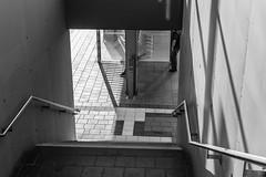 Train Station (Jontsu) Tags: germany deutschland munchen munich black white street streetphotography train station steps stairs people nikon d7200 35mm europe