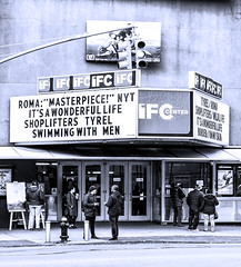 Theater--W 4th St (PAJ880) Tags: theater w 4th st greenwich village nyc manhattan urban new york city marquee movies pedestrains sign