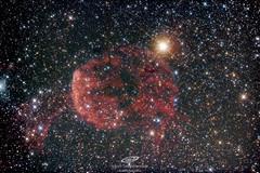 """Una de las dos nebulosas medusa, ésta es IC443, de éste sábado des del desierto de los Monegros, Huesca. Son 1:45h (21×300s) con newton ts 6"""" f4, corrector de coma Baader mpcc y Canon eos 600D modificada y refrigerada (gerardtartalo) Tags: astrofotografia astrophotography astronomy astronomia space espacio cosmos universe universo telescope telescopio canon nebulosa nebula stars astrometrydotnet:id=nova3196483 astrometrydotnet:status=solved"""
