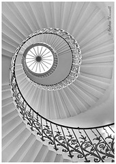 Tulip Stairs (manxmaid2000) Tags: tulip stairs staircase spiral london curve greenwich queenshouse monochrome architecture city england uk fleurdelys