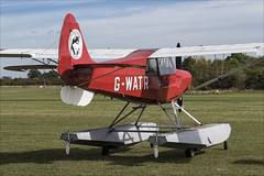 Christen Husky A-1 - 01 (NickJ 1972) Tags: shuttleworth collection oldwarden race day airshow 2018 aviation christen aviat husky a1 gwatr floats floatplane