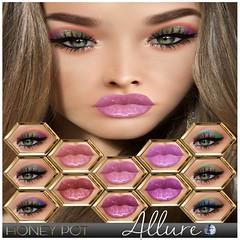 HoneyPot GENUS Collection Allure (honeypot.beauty) Tags: secondlife gaming avatar genus makeup cosmetics trends eyeshadow lipstick lipgloss fashion beauty