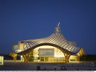 Centre Pompidou-Metz de nuit
