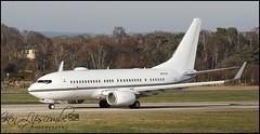 A6-RJU Boeing 737NG 77W/W BBJ c/n 62468 Royal Jet (Farnborough-EGLF) 14/02/2019 (Ken Lipscombe <> Photography) Tags: a6rju boeing 737ng 77ww bbj cn 62468 royal jet farnborougheglf 14022019
