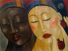 La bellezza... (antonè) Tags: acrilicosutela angelomaggi dipinto ritratti donne due volti visi occhi sassari mostra museo antonè khalilgibran
