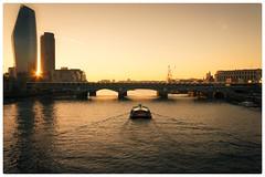**London Sunset** (Col!) Tags: canon700d london blackfriars river thames sunset city cityscape boat rivercruise