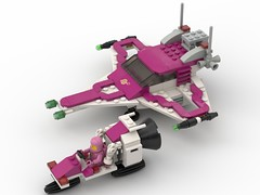 6890 Cosmic Cruiser, girly revisited (Horlack) Tags: moc lego 6890 cosmic cruiser space neo classic